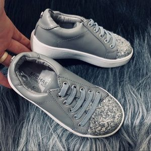 Sparkly grey Michael Kors GIRLS sneaker